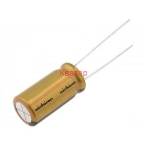 1uF 100V 5x11mm 85°C Кондензатор електролитен NICHICON UFG2A010MDM