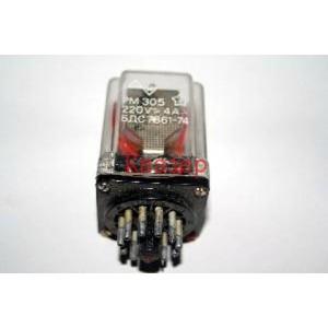 Реле РМ305 бобина - 220VAC 50Hz, 220V/4A с 3 превключващи контакта