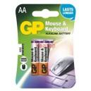 Алкална батерия LR06 AA MK /за мишки и клавиатури/ 4бр. 1.5V GP