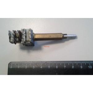 Потенциометър 2x50K стерео с ключ