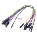 MIKROE-511 Свързващи кабели, джъмпер женски-женски, 150mm, 10бр
