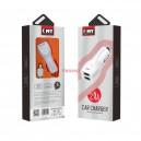 EMY MY-112 зарядно за кола 2хUSB 5V 2.4A, с кабел за iPhone 5/6/7
