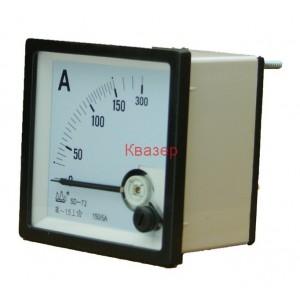 NP72 150/5A Амперметър 0-150A AC, аналогов панелен 70x70mm