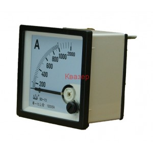 NP72 1000/5A Амперметър 0-100A AC, аналогов панелен 70x70mm