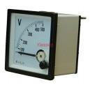 NP72 500V волтметър 0-500V AC, аналогов панелен 70x70mm