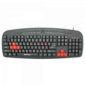PC Клавиатура DeTech DE6087, Мултимедийна USB, Кирилизирана