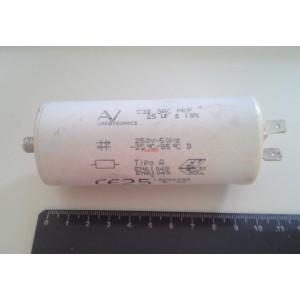 3D 25uF 250V работен кондензатор тип MKP с изводни пера