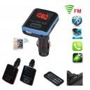 Bluetooth FM Трансмитер за кола, micro SD, USB, AUX, дистанционно, BT12