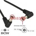 DC кабел 2.1mm мъжки жак - 2.1mm мъжки жак