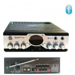 Усилвател KINTER-018 USB/SD, Bluetooth, USB, SD card, FM радио, 2x30W
