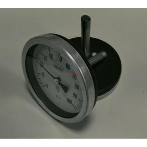 Биметален аксиален термометър 0-100°C ф100мм L76мм