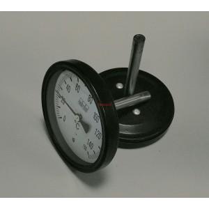 Биметален аксиален термометър 0-150°C ф100мм L76мм