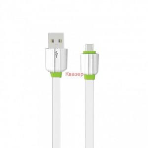 Кабел за данни, EMY MY-443, Micro USB, 1.0м, Бял
