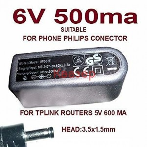 Импулсно захранване IW506E 6V/500mA с букса 1.5x3.5x8mm