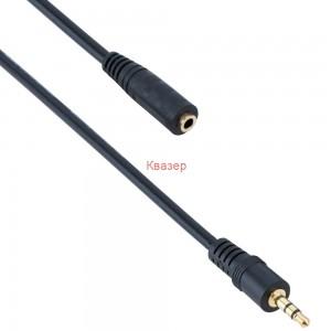 Аудио кабел DeTech M - F, 3.5мм, 3.0м