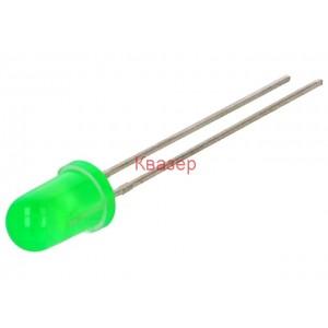 Светодиод LITEON LTL2R3KG LED 5mm зелен 85-180mcd 40°