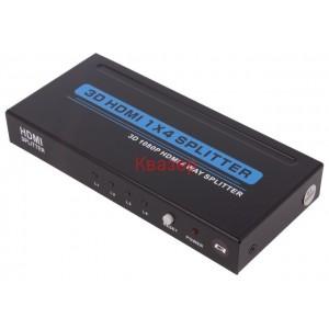 HDMI сплитер QOLTEC 50537, 1 вход - 4 изхода