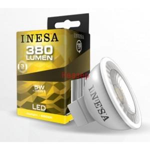 LED лампа Ф50 MR16 GU5.3 12V 5W 380lm 6500K 38гр. INESA