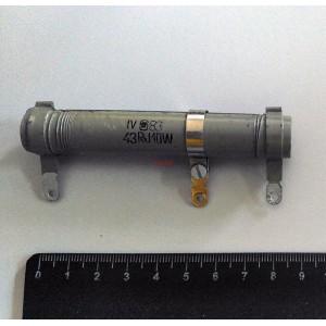 Резистор жичен променлив 43 ohm 10W / Реостат