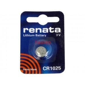 Бутонна батерия литиева CR1025 3V RENATA