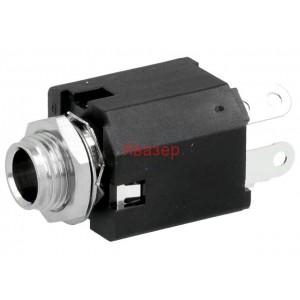 ACJS-MVS-3S жак стерео 6.3mm - женски, монтаж на панел