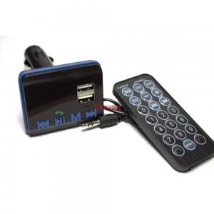FM трансмитер, Bluetooth, 2 x USB, с дистанционно управление