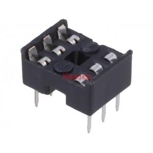 ICVT-6P цокъл за ИС 6pin DIP, 7.62mmTHT растер 2.54mm