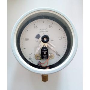 ДВ2005СгУЗ електроконтактен мановакуумметър от -1 до 0 кг/см2