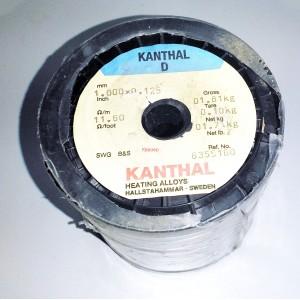КАНТАЛ 1.000x0.125mm / оригинален шведски KANTHAL-D, R11.60ohm/m