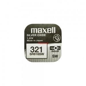 Бутонна батерия сребърна SR-616 SW / 321 1.55V MAXELL