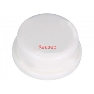 Клавиш кръгъл бял ф13mm за такт бутони