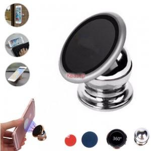 Магнитна стойка за GSM, MP4, PDA, PSP, GPS, Mетална, завъртане на 360°