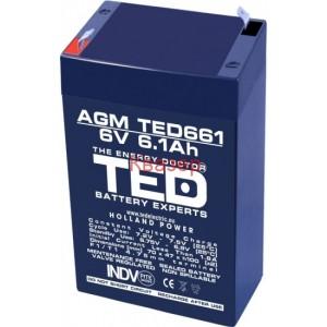 АКУМУЛАТОР TED ELECTRIC 6V/6.1Ah 70/48/101mm