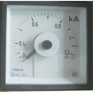 IME AQ72E Амперметър 0-1.25kA AC аналогов панелен 72x72mm AN6211D1251 TR1250/1A