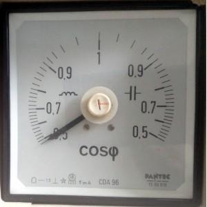 Косинус Фи метър (cos phi), 5mA, 0.5-1-0.5, аналогов панелен 96x96mm CDE 96