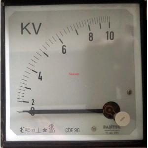 Волтметър 0-10KV AC, аналогов панелен 96x96mm, CDE96