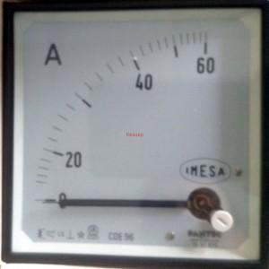 Амперметър 0-60A AC аналогов панелен 96x96mm CDE 96