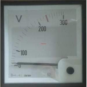 Волтметър 0-300V AC, аналогов панелен 96x96mm, IME AN35311111