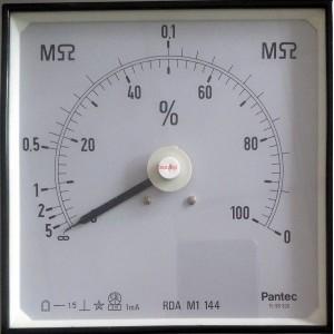 Мегаомметър, аналогов панелен 144x144mm