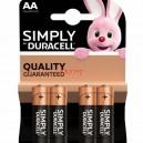 Алкална батерия  Duracell Simply LR6 4бр. 1.5V