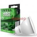 LED лампа GU10 6W 480lm 6500K 38гр. INESA