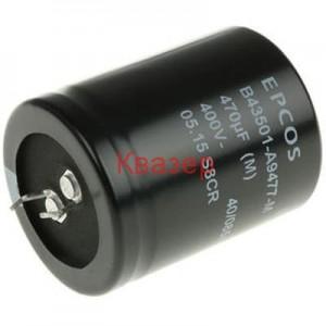 100uF 400V 25x25mm 105°C Кондензатор електролитен SNAP-IN, EPCOS (TDK) B43504B9107M