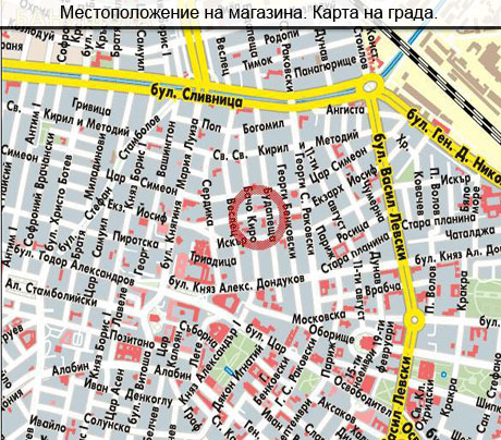 Kарта на София